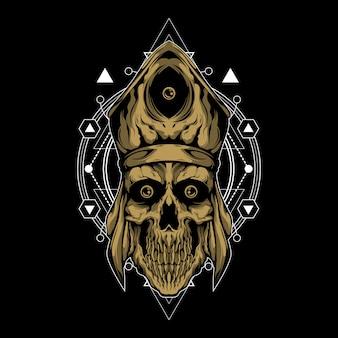 Priester des todes mit heiliger geometrie