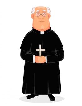 Priester zeichentrickfigur, heiliger vater