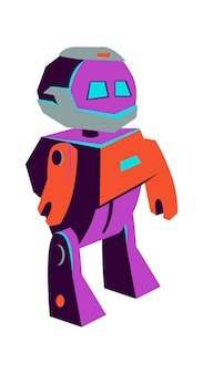 Primitiver roboter für künstliche intelligenz