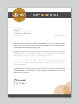 Primum briefkopfdesign oder firmenvorschlagsblock