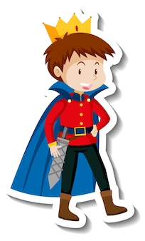 Prinz cartoon-charakter-aufkleber