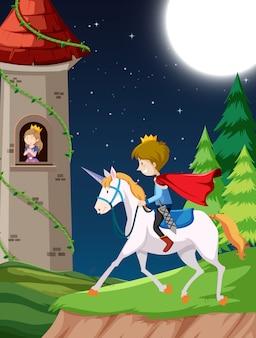 Prinz der pferdeszene