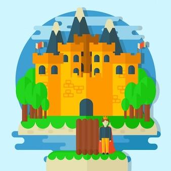 Prinz mit mittelalterlichen burg