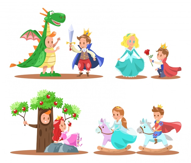 Prinz und prinzessin charakter design