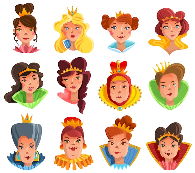 Prinzessin and queen heads set