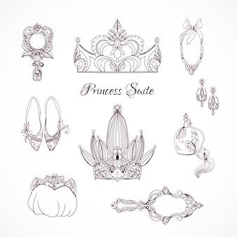 Prinzessin design-elemente