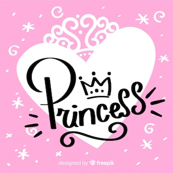 Prinzessin kalligraphischer hintergrund