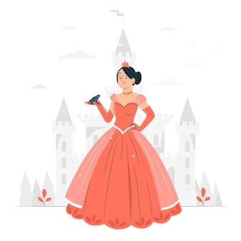 Prinzessin konzeptillustration