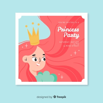 Prinzessin party einladung