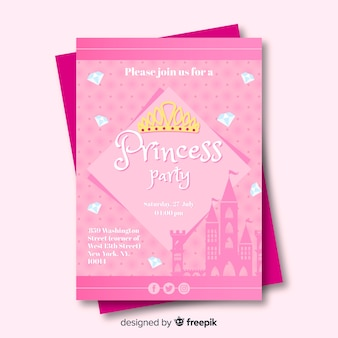 Prinzessin party einladung