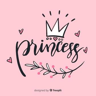 Prinzessin schriftzug hintergrund