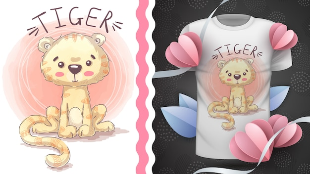Prinzessin tiger - idee für print-t-shirt