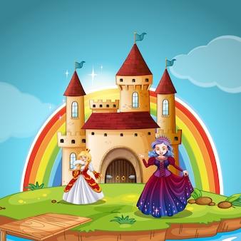 Prinzessin und königin im schloss
