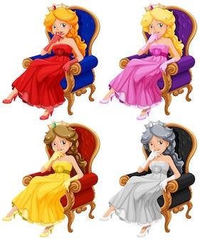 Prinzessinnen gesetzt