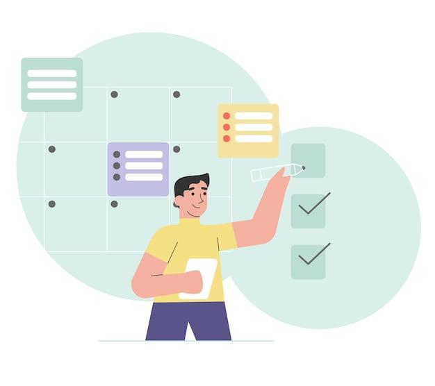 Prioritätsaufgabe und überprüfungsplan
