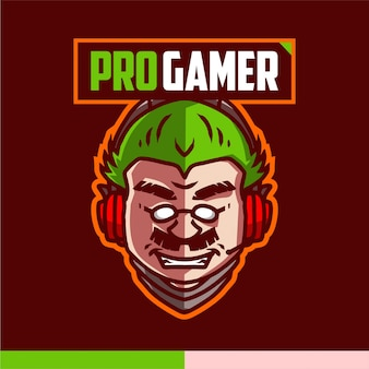 Pro-gamer-maskottchen-logo