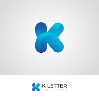 Pro k-buchstabe logo design