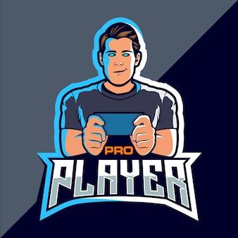 Pro spieler esport spiel logo design