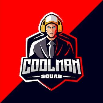 Pro-spieler-esportspiel-logo