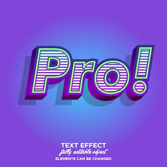 Pro sticker font-effekt mit reichhaltiger textur