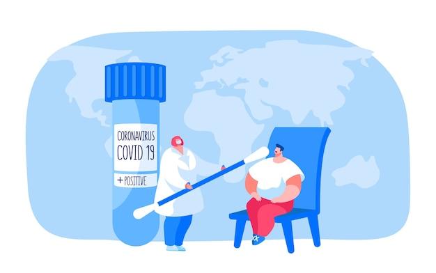 Probenahme aus dem kehlkopf zur bestimmung ansteckender krankheiten