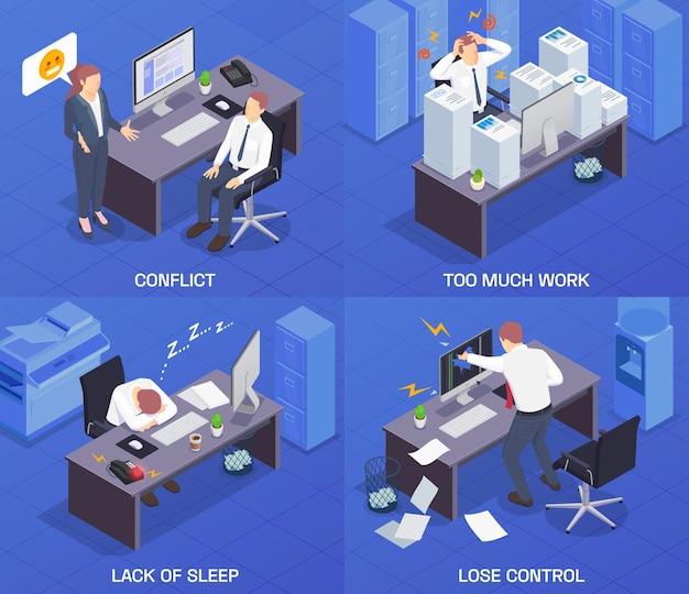 Problemsituationen am arbeitsplatz isometrisch