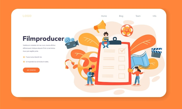 Producer web banner oder landing page