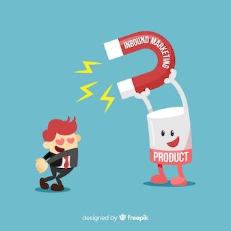 Produkt zieht person mit magnet an