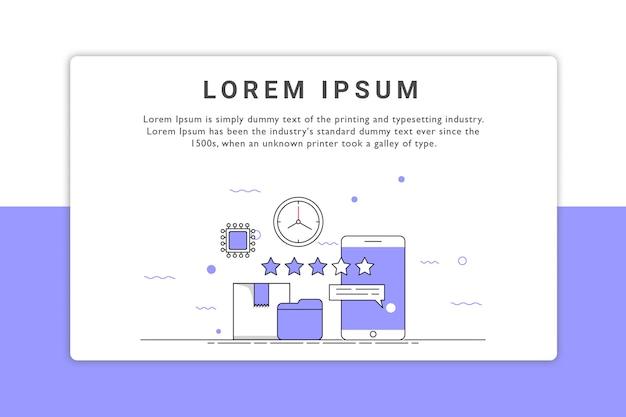 Produktbewertung landing page