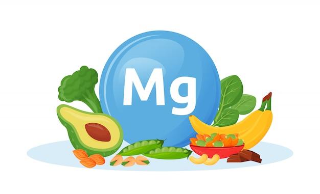 Produkte, die magnesiumkarikaturillustration enthalten