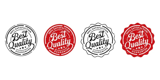 Produktetikettset von bester qualität