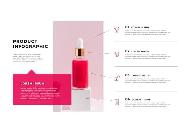 Produktinfografiken mit foto