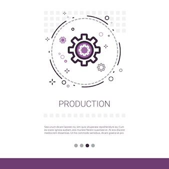 Produktions-zahnrad-geschäfts-industrie-netz-fahne