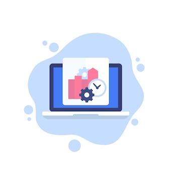 Produktivität, business-software-symbol