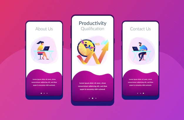 Produktivitäts-app-interface-vorlage