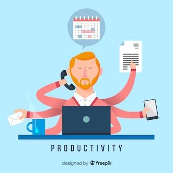 Produktivitätskonzept hintergrund