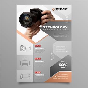Produktkatalog der farbverlaufstechnologie mit foto