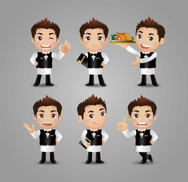 Profession server mit verschiedenen posen