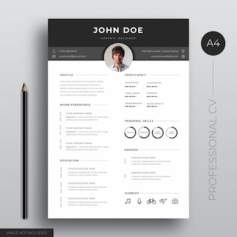 Professiona cv template design