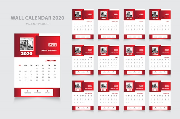 Professionelle 2020 wandkalendergestaltung