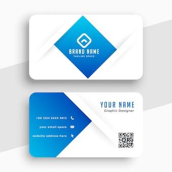 Professionelle blaue visitenkarte für ihr unternehmen