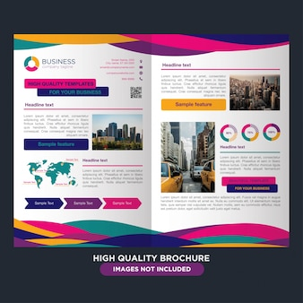 Professionelle broschüre für das mehrzweckgeschäft