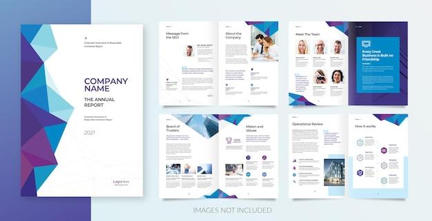 Professionelle broschüre oder geschäftspräsentation