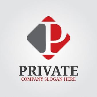Professionelle buchstabe p logo