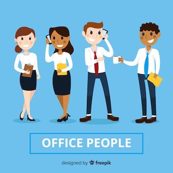 Professionelle Büroangestellte mit flachem Design