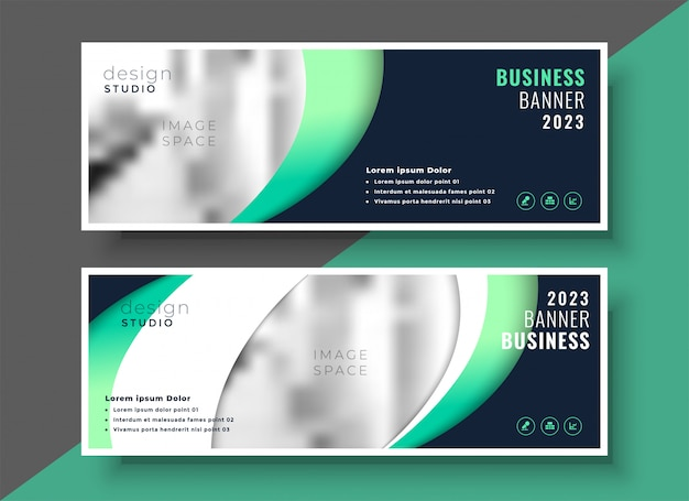 Professionelle business banner vorlage layout