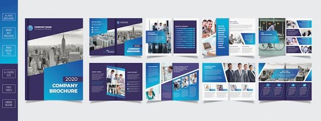 Professionelle business-broschüre design 16 seiten