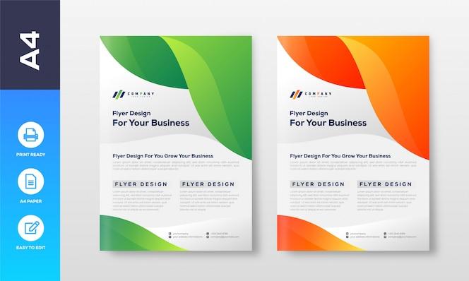 Professionelle business flyer design vorlage