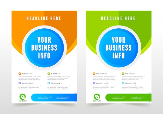 Professionelle business-flyer-design