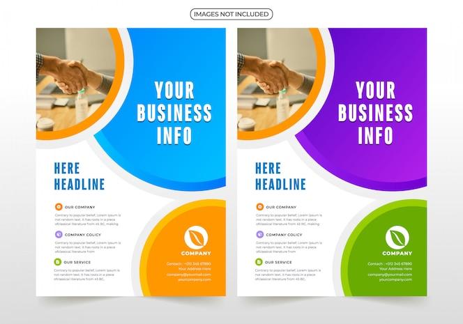 Professionelle business-flyer-design